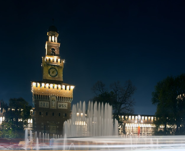 Sforzesco schloss in mailand, italien