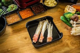 Shabu Essen koreanischen Stil