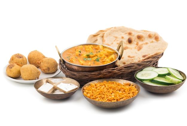 Shahi paneer oder paneer kadai