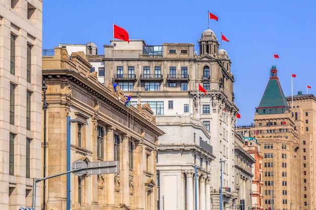 Shanghai bund alte gebäudelandschaft