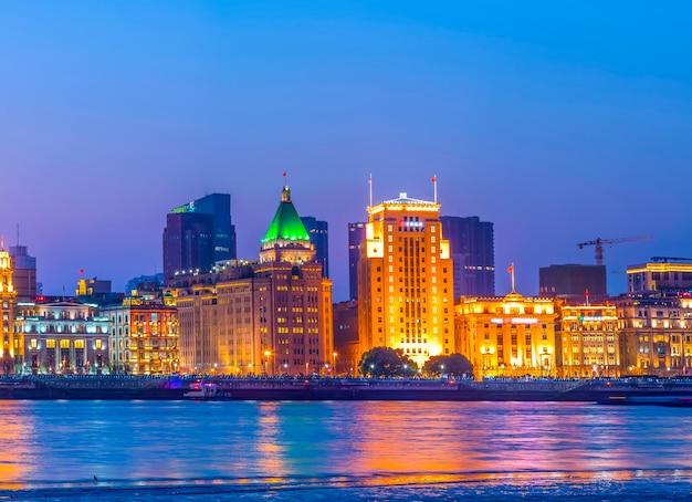 Shanghai bund nacht