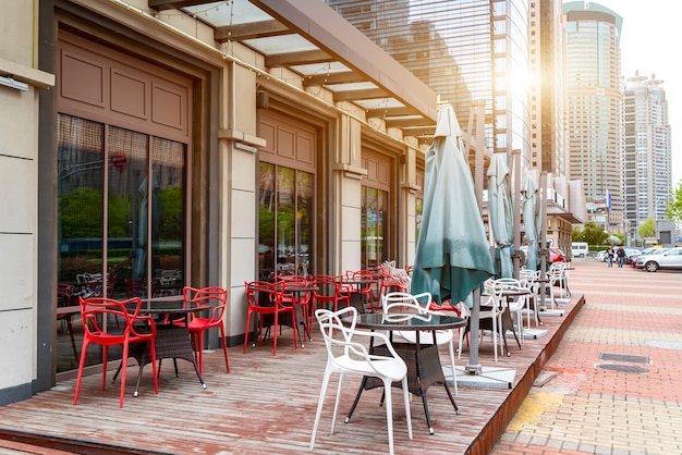 Shanghai bund outdoor bar kaffeebar