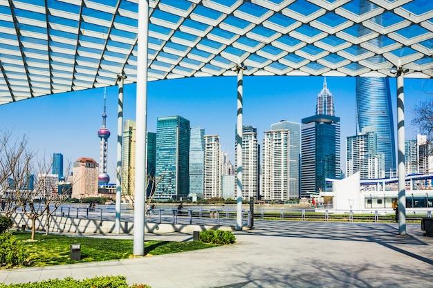 Shanghai stadt gebäude