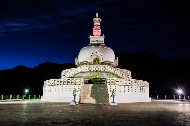 Shanti stupa, leh, indien.
