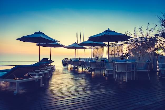 Sharm urlaub tropischen silhouette licht