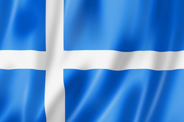 Shetland county flagge, großbritannien