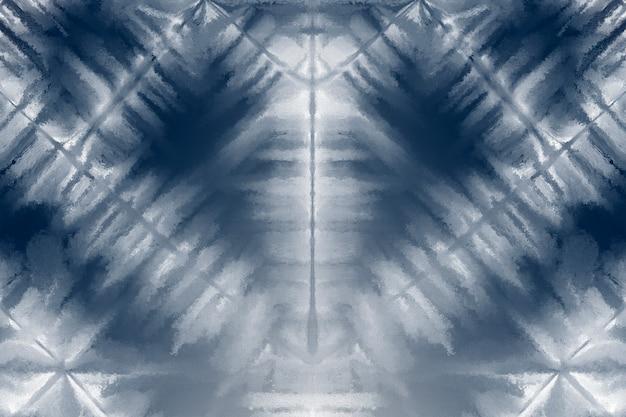 Shibori-hintergrund mit indigoblauem muster