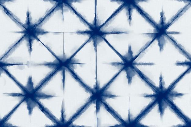 Shibori-musterhintergrund in indigoblauer farbe