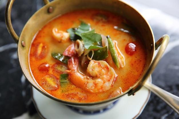 Shimp tom yum suppe, thailändisches lebensmittel