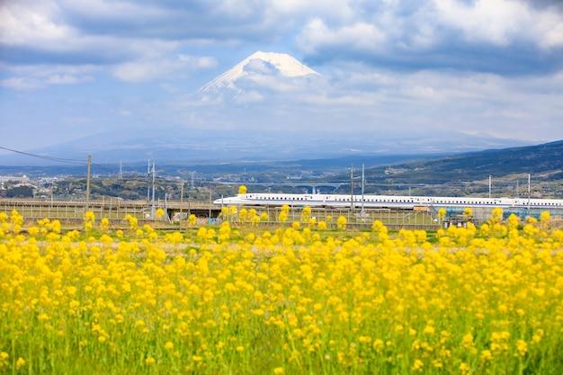 Shinkansen und fuji hintergrund