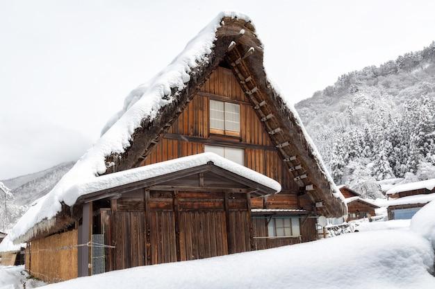 Shirakawa gehen dorf in japan