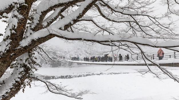 Shirakawa gehen schneesaison japan