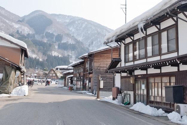 Shirakawago, historisches winterdorf japans.
