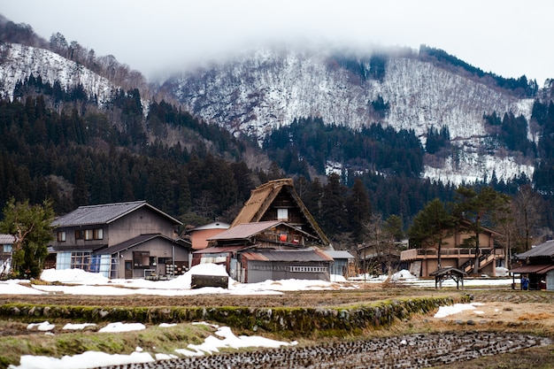 Shirakawago im winter