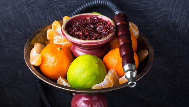 Shisha mit limetten- und mandarinengeschmack