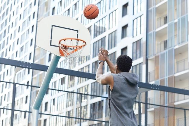 Shooting slam dunk