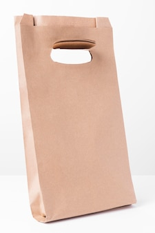 Shopping braune papiertüte seitenansicht