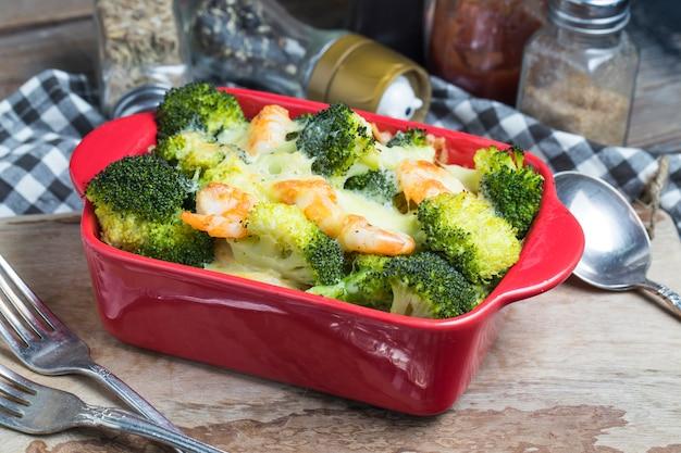Shrimp pasta, brokkoli, garnelen