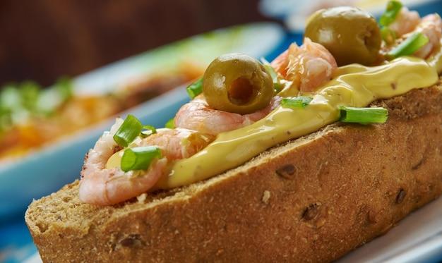 Shrimp rolls , meeresfrüchte-sandwiches nach new england-art