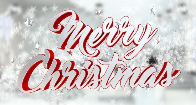 Sich hin- und herbewegende glänzende wiedergabe der weihnachtsmeldung 3d