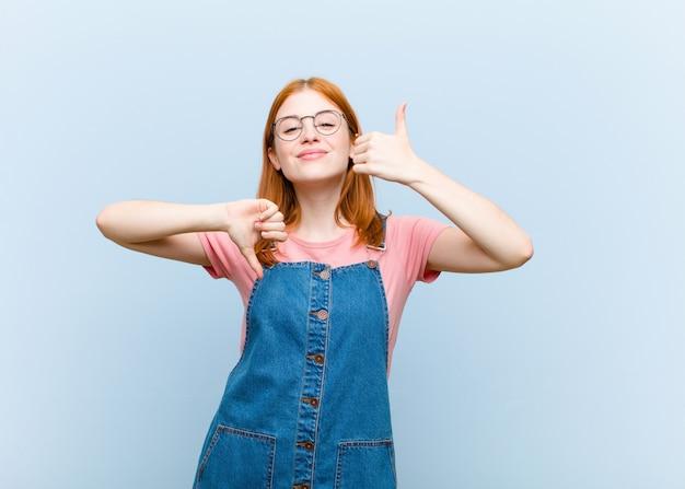 Sich verwirrt, ahnungslos und unsicher fühlen und das gute und das schlechte in verschiedenen optionen oder entscheidungen abwägen