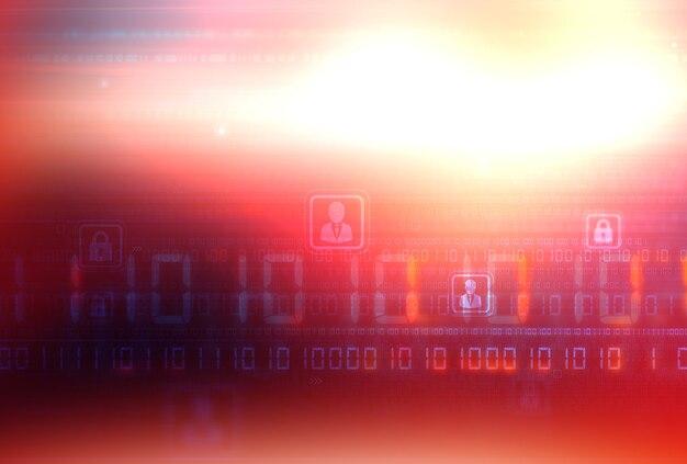 Sicheres konnektivitätskonzept für die digitale welt des sozialen netzwerks