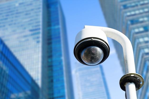 Sicherheit, cctv-kamera im bürogebäude