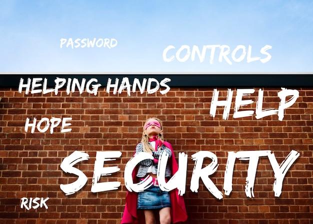 Sicherheitssicherheitsabdeckung schützen sie symbol