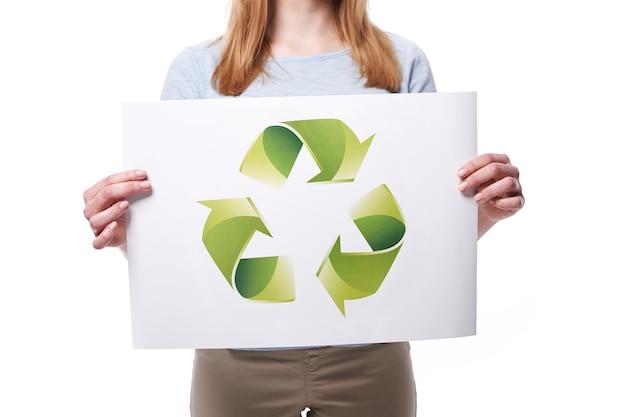 Sie können unserem planeten durch recycling helfen