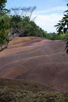 Siebenfarbige erde, chamarel, mauritius