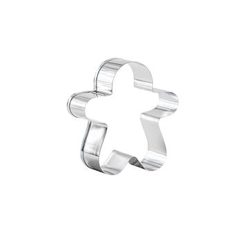 Silber edelstahl ausstecher in form von lebkuchenmann