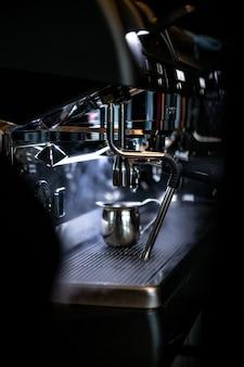 Silber kaffeemaschine