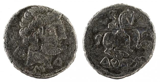 Silbermünze, antiker turiaso iberischer spanien silberdenar,
