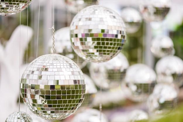 Silberne discokugel