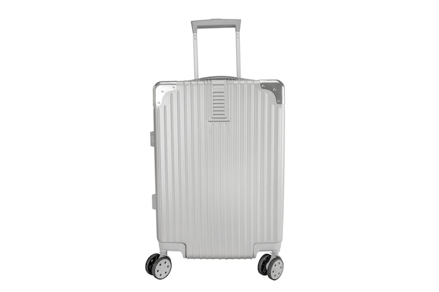 Silberne gepäcktasche