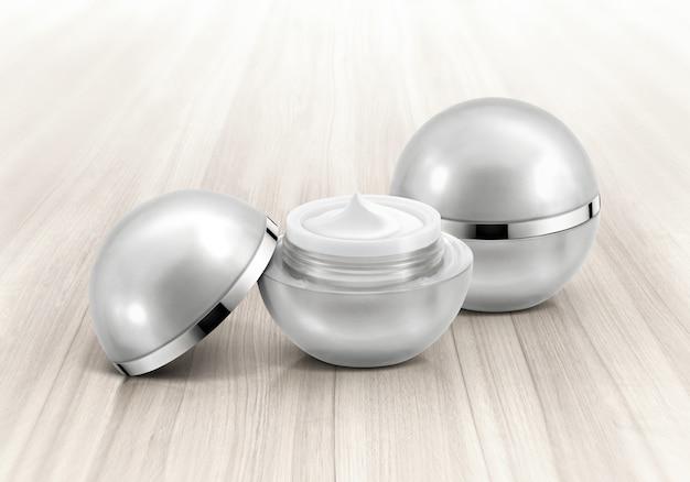 Silberne kugel kosmetikdose