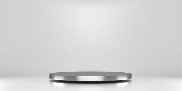 Silberne plattform zur produktpräsentation