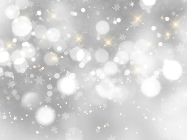 Silberner weihnachtshintergrund