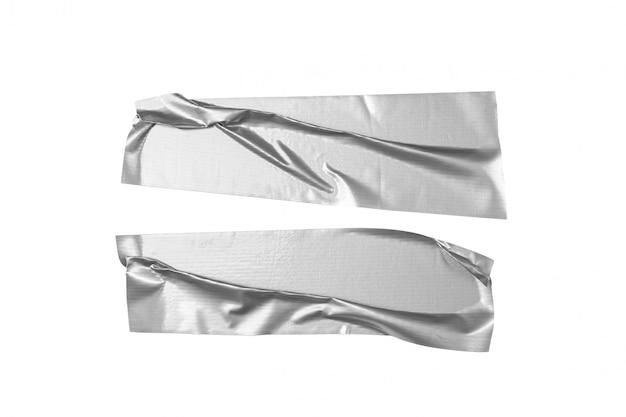 Silbernes band auf weißem hintergrund