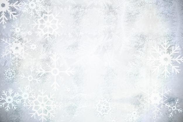 Silbernes schneeflocke-musterdesign