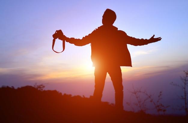 Silhouette der freiheit fotograf