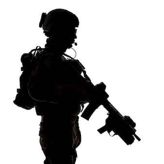 Silhouette der united states army ranger