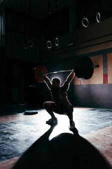 Silhouette des bodybuilders