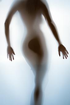 Silhouettenfoto von sexy weiblichem po und rücken