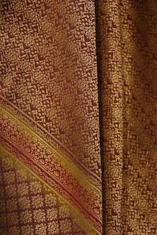 Silk beschaffenheitshintergrund, thailändische art