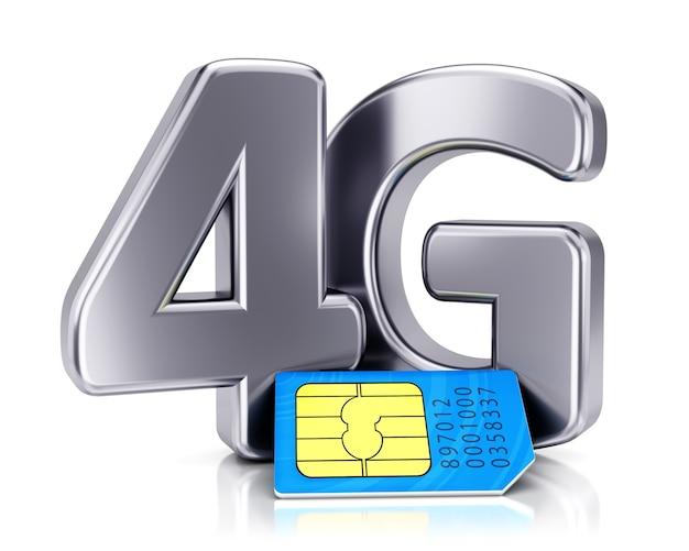 Sim-karte und 4g-symbol