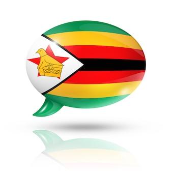 Simbabwe flagge sprechblase