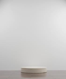 Simple circle marmor modern mockup podium
