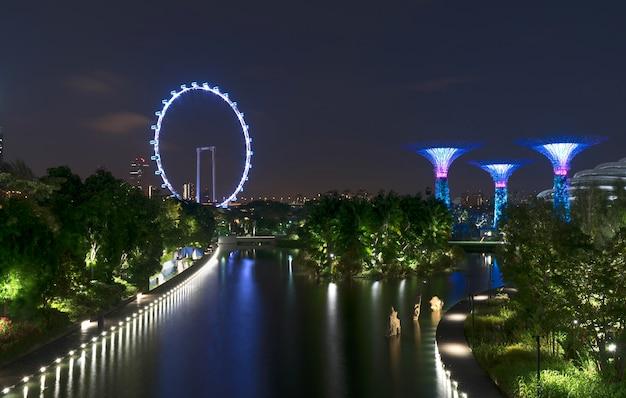 Singapur schöne stadtansicht von ocbc skyway