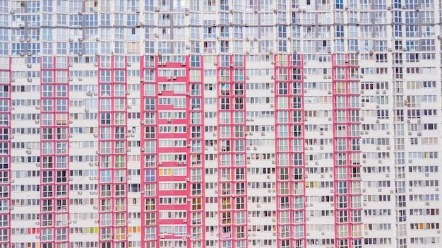 Singapur-sozialwohnung in punggol-bezirk, singapur. housing development board (hdb), flache wohnanlage